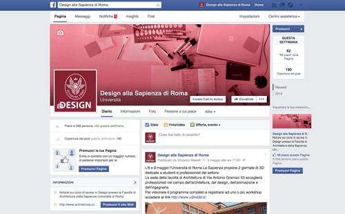 la scuola del design su facebook sapienza universit